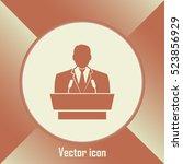 speaker icon. orator speaking... | Shutterstock .eps vector #523856929
