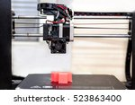 3d printer and printed models ... | Shutterstock . vector #523863400