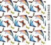 watercolor texture butterfly | Shutterstock . vector #523864618