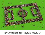 large and diverse group of... | Shutterstock . vector #523870270