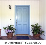 a front entrance of a home with ... | Shutterstock . vector #523870600
