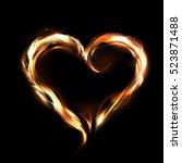 Flaming Vector Heart...
