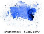 colorful abstract watercolor... | Shutterstock . vector #523871590