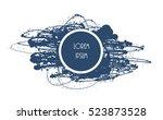 splatter paint background.... | Shutterstock .eps vector #523873528