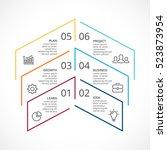 vector up arrows minimal... | Shutterstock .eps vector #523873954