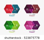 set of abstract geometric... | Shutterstock .eps vector #523875778