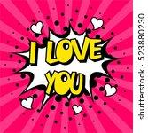 pop art comic bubbles design.... | Shutterstock .eps vector #523880230
