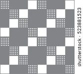 seamless geometric pattern.... | Shutterstock .eps vector #523881523