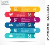 vector up arrows infographic ... | Shutterstock .eps vector #523882669