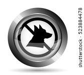 forbidden dogs icon. forbidden... | Shutterstock . vector #523884478
