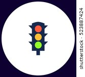traffic light icon vector. flat ... | Shutterstock .eps vector #523887424