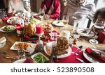 family together christmas...   Shutterstock . vector #523890508