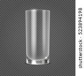 empty realistic drinking glass ... | Shutterstock . vector #523894198