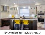 modern  bright  clean  kitchen... | Shutterstock . vector #523897810