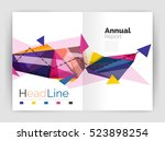 unusual abstract corporate... | Shutterstock . vector #523898254