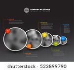 vector infographic company... | Shutterstock .eps vector #523899790