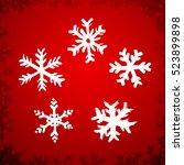 set of five hand drawn stars | Shutterstock .eps vector #523899898