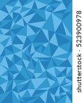 polygonal pattern blue | Shutterstock .eps vector #523900978