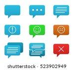 set of color speech bubbles...   Shutterstock .eps vector #523902949