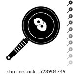 omelet in a frying pan   black... | Shutterstock .eps vector #523904749