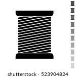 thread spool   black vector... | Shutterstock .eps vector #523904824