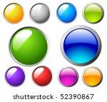 vector buttons   Shutterstock .eps vector #52390867