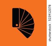 color samples icon. orange...