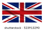 great britain flag with grunge... | Shutterstock .eps vector #523913290