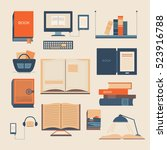 set of books. collection of... | Shutterstock . vector #523916788