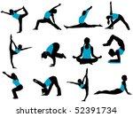 yoga poses | Shutterstock .eps vector #52391734
