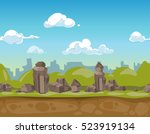 seamless cartoon park landscape ...