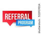 referral program vector speech... | Shutterstock .eps vector #523919314