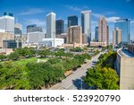 aerial day view of houston... | Shutterstock . vector #523920790