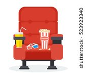 cinema seats in a cinema with... | Shutterstock .eps vector #523923340