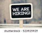 we are hiring handwritten with... | Shutterstock . vector #523925929