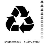 recycle   black vector icon and ... | Shutterstock .eps vector #523925980