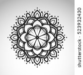 vector abstract flower mandala. ... | Shutterstock .eps vector #523932430