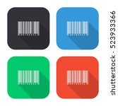 barcode vector icon   colored... | Shutterstock .eps vector #523933366