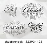 chocolate labels collection in... | Shutterstock .eps vector #523934428