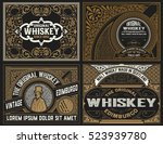 set whiskey labels. vector | Shutterstock .eps vector #523939780