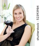 Beautiful Blond Woman Drining...