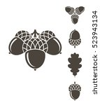 acorn. icon set. abstract... | Shutterstock .eps vector #523943134