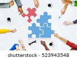 team building group work concept | Shutterstock . vector #523943548