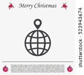 pin on globe icon | Shutterstock .eps vector #523943674