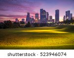 downtown houston at epic... | Shutterstock . vector #523946074