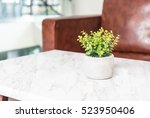 tree in pot decoration on the... | Shutterstock . vector #523950406