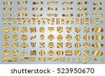 label ribbon banner gold vector ...   Shutterstock .eps vector #523950670