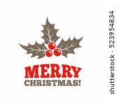 christmas graphic symbol.... | Shutterstock .eps vector #523954834