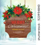 christmas greeting card with...   Shutterstock .eps vector #523954840