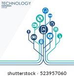 technology mechanism concept.... | Shutterstock .eps vector #523957060